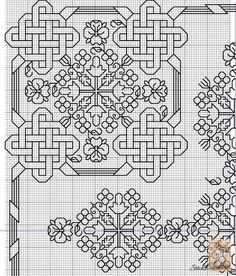 Celtic Knot for Quaker Ball Gallery. Motifs Blackwork, Blackwork Cross Stitch, Celtic Cross Stitch, Blackwork Embroidery, Folk Embroidery, Cross Stitch Borders, Cross Stitch Designs, Cross Stitching, Cross Stitch Embroidery