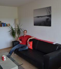 ecksofa mit longchair aus der kollektion new york das leder in dem farbton kiesel strahlt w rme. Black Bedroom Furniture Sets. Home Design Ideas