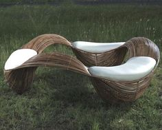 Baud ColleFilipino furniture designer Vito Selma has created artistic pieces of furniture called Baud. The undulating design lines of this wooden furniture set captures the motion of waves, inducing a relaxing feeling of vacation.ction by Vito Selma Rattan Furniture, Urban Furniture, Unique Furniture, Furniture Design, Outdoor Furniture, Furniture Ideas, Cane Furniture, Rattan Sofa, Furniture Removal