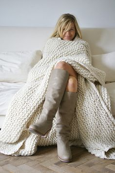 Love the colours in this pic and may I say I need that blanket and those boots!!!!!