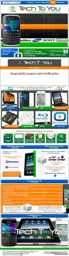 Cliente Tech_To_You. Venta de Smartphone Samsung, Apple, Sony, LG y más. Tablets / iPads, iPod de Ultima Generación. Creación 2012 / Diseño elaborado por iGrafi. Síguenos en Twitter: @iGrafi Oficial / Facebook: https://www.facebook.com/IGrafi