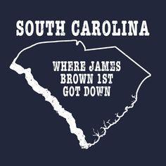 South Carolina state slogan shirt WHERE JAMES BROWN...    by StateSloganTees $18.00
