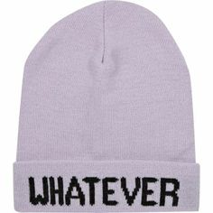 Light purple whatever beanie hat by: River Island $6.45
