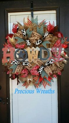 Howdy Western wreath                                                                                                                                                     More