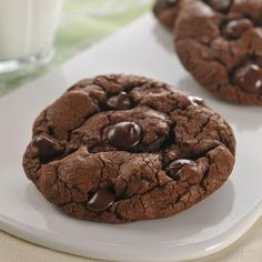 Dark Chocolate Cookies!  These are great!