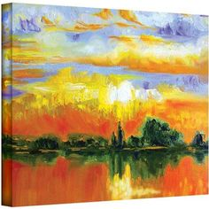 ArtWall Susi Franco The Zen of Italy Gallery-wrapped Canvas, Size: 18 x 24, Purple