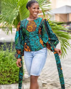 Awesome 44 Wonderful Womens African Fashion Style Outfits You Need To Try This Summer African Wear Dresses, Latest African Fashion Dresses, African Print Fashion, African Attire, African Blouses, African Tops, African Lace, Style Africain, Trendy Ankara Styles