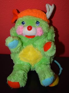 vintage POPPLES plush GREEN PUTTER 8  stuffed toy MATTEL 1986 80s