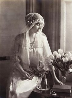 Queen Elizabeth the Queen Mother on her wedding day.