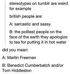 Two kinds of British people...