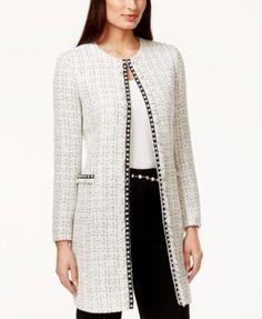 Blazer Jackets for Women - Macy's Dressy Jackets, Blazer Jackets For Women, Long Jackets, Coats For Women, Clothes For Women, Outerwear Jackets, Chanel Jacket Trims, Classic Fashion Looks, Chic Outfits