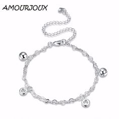 AMOURJOUX Romantic Heart Chain Silver Plated Charm Anklets For Women Ankle Bracelet On The Leg Anklet Silver Foot Jewelry Female     Tag a friend who would love this!     FREE Shipping Worldwide     Get it here ---> http://jewelry-steals.com/products/amourjoux-romantic-heart-chain-silver-plated-charm-anklets-for-women-ankle-bracelet-on-the-leg-anklet-silver-foot-jewelry-female/    #jewelry