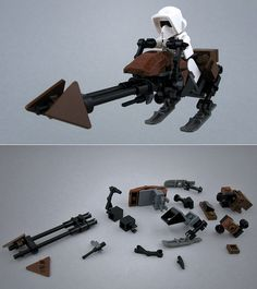 Lego Custom Star Wars Speeder Bike with instruction