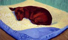 David Hockney, Dog Painting 17, 1995 oil on canvas