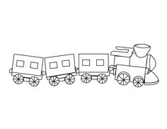 Little-train_coloring page