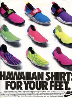 a0e772de80d7 Auqa Sox  Hawaiian Shirts for you Feet Nike Aqua Socks