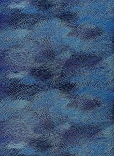 Sininen Marimekon verhokangas