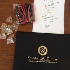 The Sigma Tau Delta, Psi Delta chapter's end-of-the-year banquet included pinning of new members, honoring of graduating seniors, and recognition for exemplary service.  Also, we had a taco bar. Everyone loves tacos.