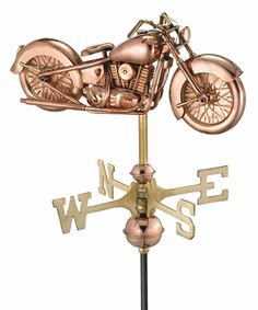 Perfect for the garden! Motorcycle Weathervane - from #gardenfun #chopperexchange #bikerhome #bikerlife