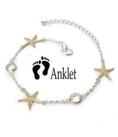 Anklets Silver Plated Anklet Ankle Bracelet Adjustable Yellow Greek Magic Eye Look Charm Jewelry & Watches