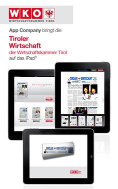 WKO Tirol App: App Company Oberösterreich - die Appagentur aus Linz - bringt die WKO - Wirtschaftskammer Tirol - auf das iPad®