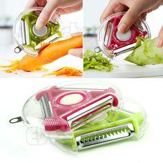 Vegetable Fruit Potato Peeler Parer Julienne Cutter Slicer Stainless Steel Blade #Unbranded