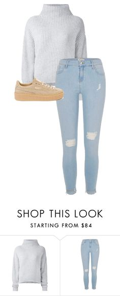 """./..//.../.../..."" by anna-mae-equils ❤ liked on Polyvore featuring Le Kasha, River Island and Puma"