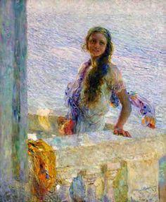 Primula Plinio Nomellini 1925 pittura, olio su tela INV.: 550 larghezza: 106 altezza: 113
