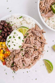 A citrus based marinade adds flavor and tenderness to slow cooker Cuban pork. Change up your normal routine of pulled pork with this unique flavor combination. Marinated Pork, Grilled Pork, Mojo Pork, Cuban Pork, Cuban Dishes, Boneless Pork Shoulder, Pulled Pork Recipes, Baked Pork, Fast Easy Meals