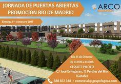Jornada de puertas abiertas de la #promociónRío de Madrid, el sábado 15 de Octubre #vivienda