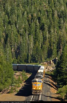 """Two EMD's drag 4506 feet of autos in Run 8 towards the 10 thousand foot Tunnel 41, which is aptly named the """"Big Hole"""".\"""