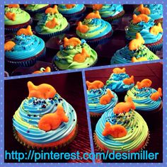 Cupcakes: Under the sea theme :)   Logan's actual cupcakes done by the amazing Desiree!