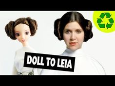 No Make-up Transformation Princess Leia Doll - Easy Doll Crafts - YouTube