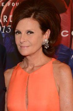 Laura Slatkin wearing JAR earrings