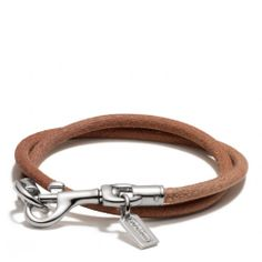 The Dogleash Double Wrap Cord Bracelet from Coach