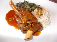 Delish lamb shanks with spinach Lamb Shanks, Meat Recipes, Risotto, Spinach, Delish, Pork, Chicken, Ethnic Recipes, Kitchens