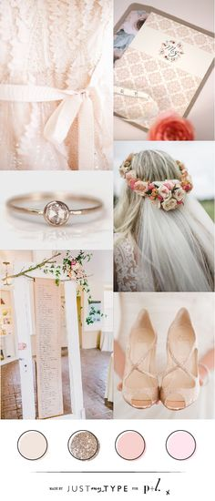 Inspiration Board // Peach and Blush