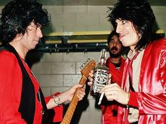 Keith Richards and Ronnie Wood. Rolling Stones.