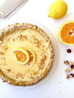 Tarte citron et orange avec croûte de noisettes cliquez ici pour recipesourceMore desserts sucrés!