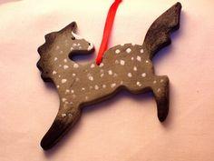 custom horse christmas ornament.  Me: Okay, somebody get me this guy for Christmas, okay?