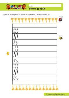 Semne grafice Home Schooling, Worksheets, Grid, Map, Writing, Fine Motor, Lyrics, Graphic Design, Kindergarten
