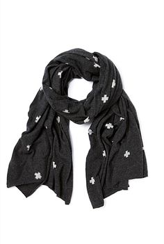 Knitted Cross Scarf