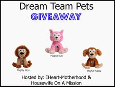 IHeart-Motherhood: Dream Team Pet Review and Giveaway
