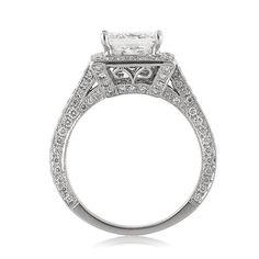 3.25ct Princess Cut Diamond Engagement Anniversary by MarkBroumand