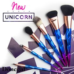 Czy można pozostać obojętnym wobec tych pięknych kolorów - UNICORN #pędzle #make-up #makeup #beauty #unicorn #bajka #jednorożec #brush #donegal #soft #magic