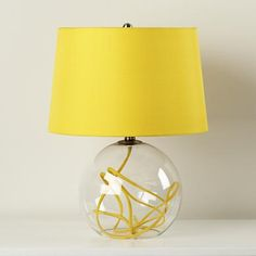 Kids Lighting: Yellow Crystal Ball Table Lamp in Table Lamps
