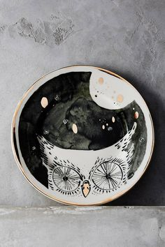 Anthropologie Moonlit Forest Dessert Plate what a fun addition to any home.