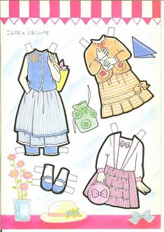 This From Eugenia - MaryAnn - Picasa 웹앨범 Paper Toys, Paper Crafts, Candy Pictures, Doll Japan, All Paper, Paper Art, Vintage Paper Dolls, Retro Toys, Art Pages