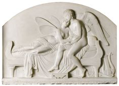 John Gibson 1790 - 1866 BRITISH THE MARRIAGE OF PSYCHE AND CELESTIAL LOVE signed: J. GIBSON FECIT ROMAE
