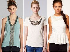 Sometimes a regular T-shirt just won't do. You want something with a little sparkle and shine. And that's where a beaded top comes in -- it's an easy way to take things up a notch. We've found nine beaded tops that are more dressy than messy (you don't want to look like you're a runaway show girl, do you?) Check 'em out after the jump!